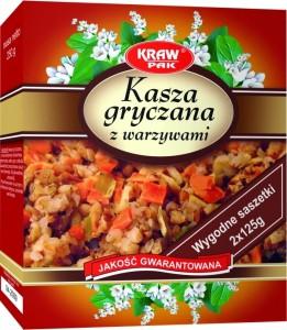 Kasza gryczana z warzywami  saszetki 250g