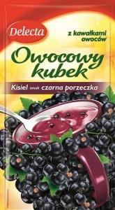 Owocowy kubek - Kisiel o smaku czarnej porzeczki