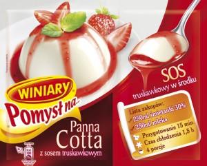 Winiary pomysł na panna cotta z sosem truskawkowym