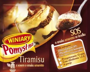 Winiary pomysł na tiramisu z sosem o smaku amaretto