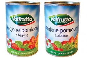 Valfrutta krojone pomidory z bazylią i z ziołami